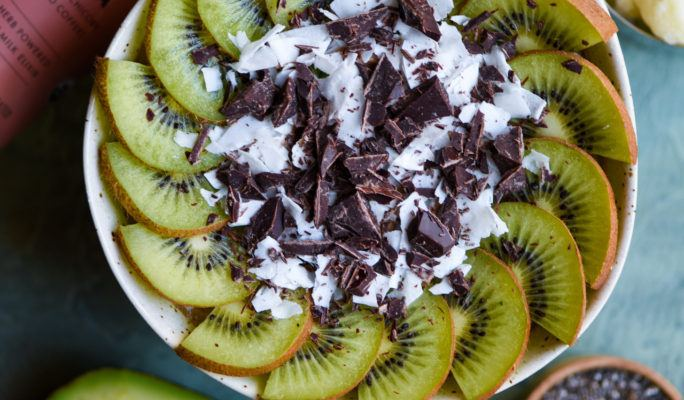 Earth Day Maca Mocha Smoothie Bowl